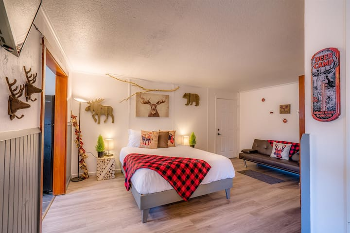 Cabin Suite #16, Full kitchen/Dtown/The Wanderlust / 2 Queens, 1 Sofa Futon, Pets Yes!