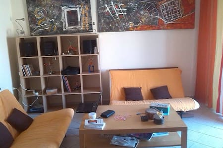 Cosy couch/bed living room - Patras