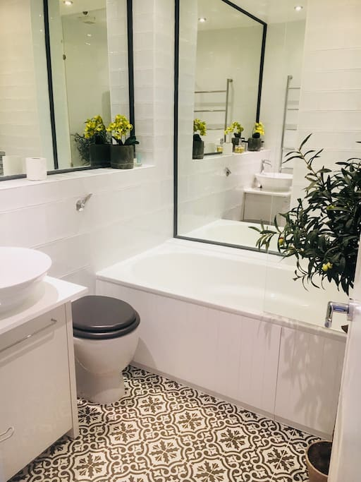 New bathroom; power shower; Jo Malone hand wash; toiletries provided.