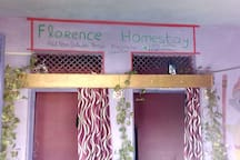 front of the florence homestay