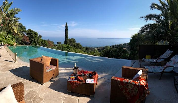Rdc Maison  Vue mer panoramique  PIscine exotique