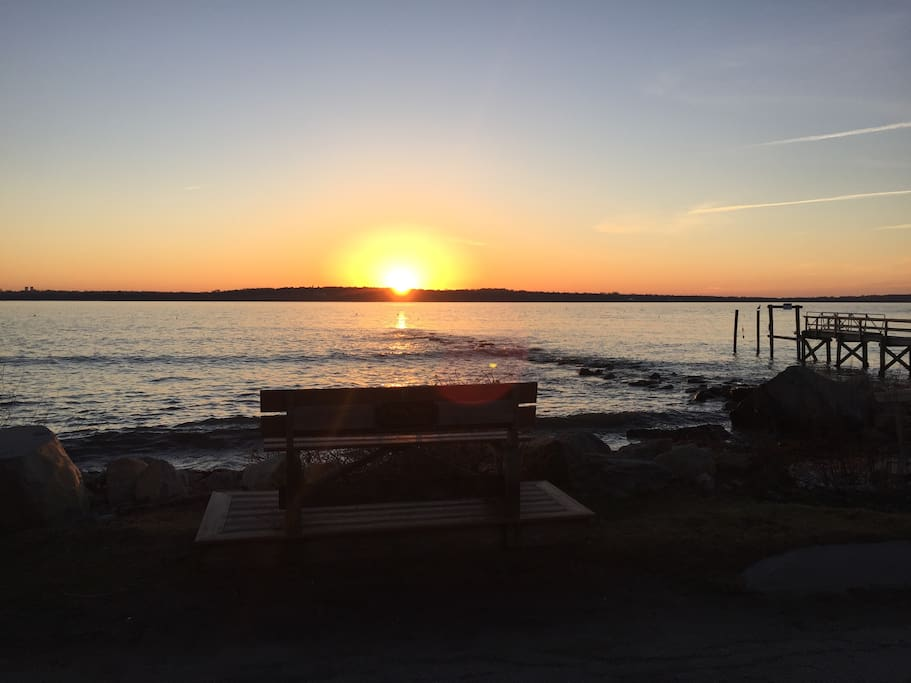 Begin your day relaxing on a bench and watching the sunrise at Little Beach (short stroll from house 0.1 miles)