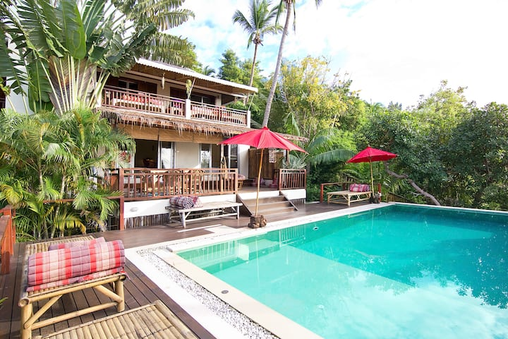 Apartment 4 people in Baan Mali villa with pool