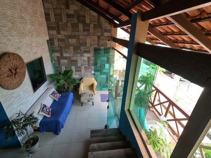 Quarto com banheiro privativo no coração de Maraca
