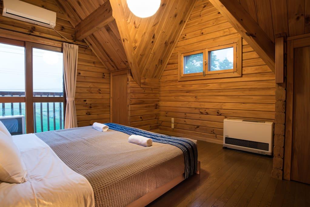 Bedroom in summer