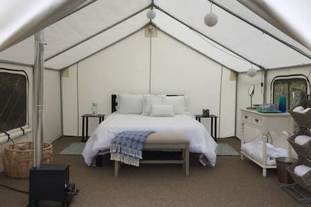 Entire Glamping Site: 2 Tents/Dining Gazebo/more
