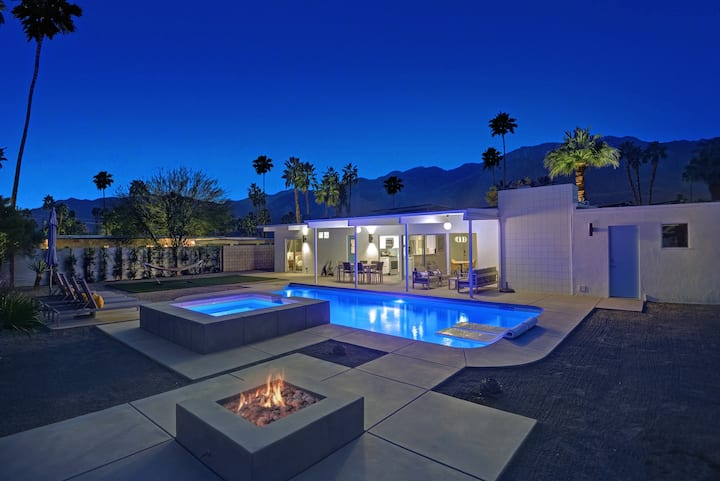 Mid-Century Modern Home with Salt-Water Pool