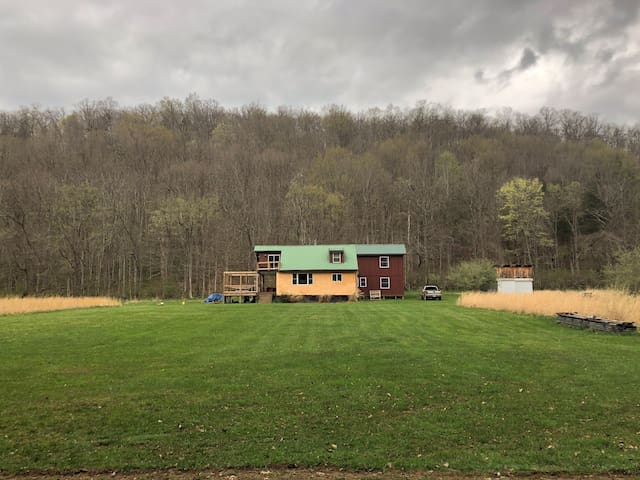 Straw bale Cabin on the Greenbrier River