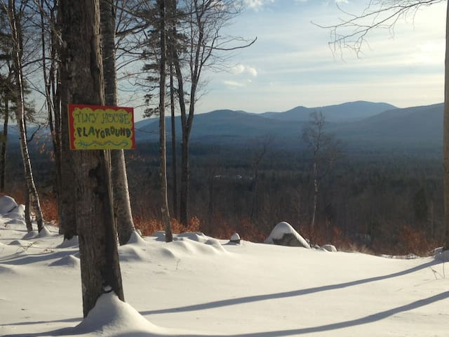 The mountain top playground in winter