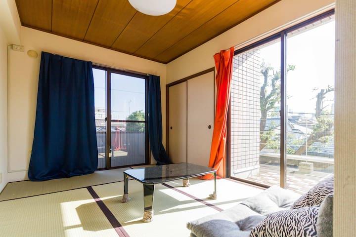 Shibuya 7 min - Modern Tatami Room - Setagaya-ku - Rekkehus