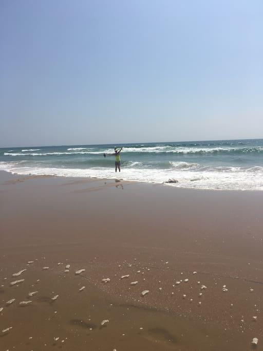 Nearest beach down the road!