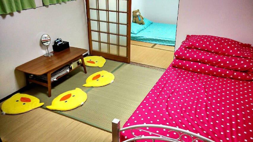 鶴橋車站旁邊日式住家,熱誠歡迎喜歡探索日本建築和巷道之美的朋友們入住。 - บ้าน