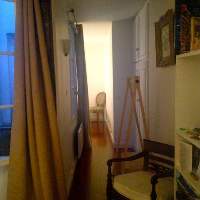 View from Living Room through corridor into bedroom