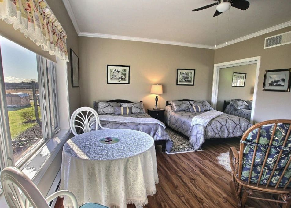 Two Double Beds, Large Closets, and Picture Window