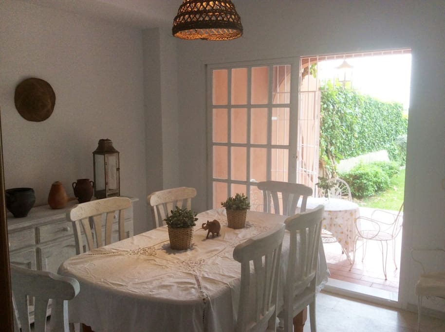 Dining room open to the garden