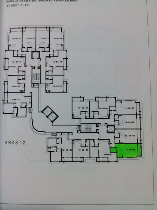 location of Choon's Aprt at Level 12 CB 88, a corner lot, just 5 footsteps away from lift No. 4
