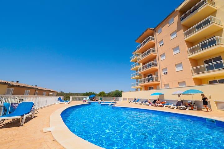 Calas de Mallorca  Piscina, playa y vistas - Cales de Mallorca