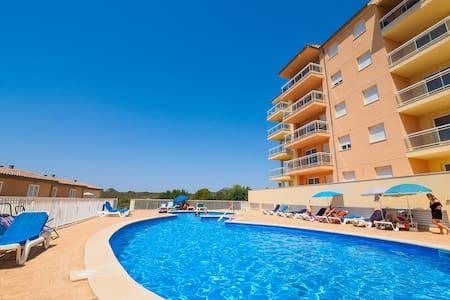 Calas de Mallorca ☼ Piscina, playa y vistas - Cales de Mallorca - Daire