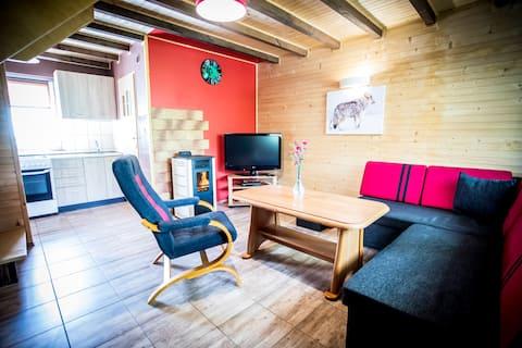 Drewniany domek De Lux Bieszczady k. Polańczyka
