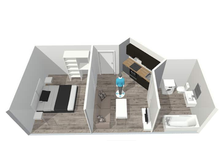 Nid douillet 35m² Centre, proche Mairie-NETFLIX