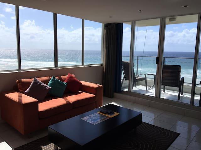 温馨、大气的海景公寓房,让你真正体会面朝大海春暖花开的感觉! - Surfers Paradise - Daire
