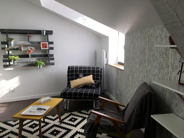 Appartement F1 bis 33m2 centre village calme - Aubière