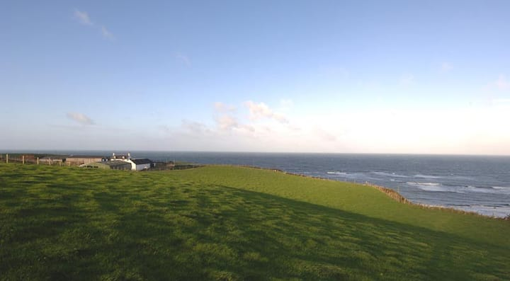 Seascape, a cliff top farm, Kintyre, Scotland