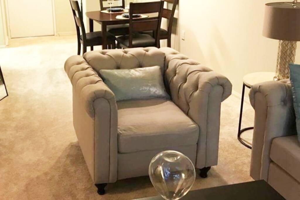 and an armchair