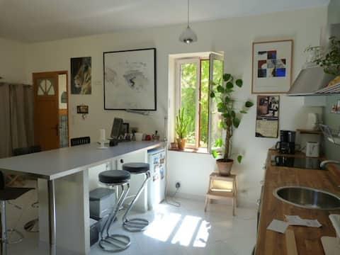 Ruhige Wohnung im Dorf 20mn von Montpellier