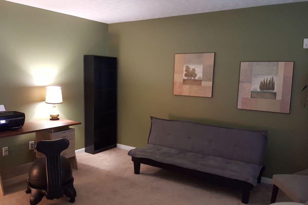 den with futon