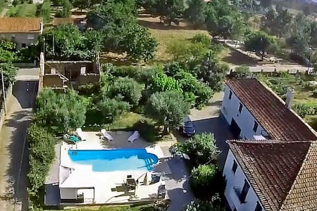 Large farmhouse apartment, garden & private pool
