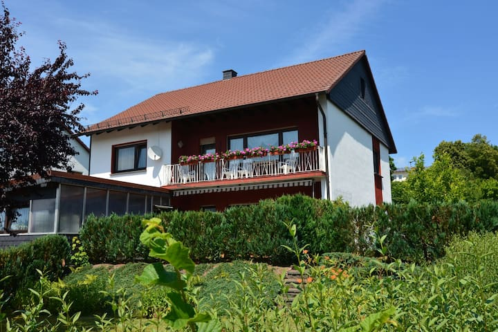 Holiday home in Sauerland with covered balcony and a lovely view
