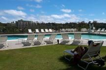 Plenty of seating at pool