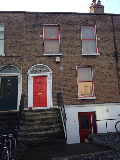 Front of building see red Georgian door, 101 South Circular Road, Leonards Corner, Dublin 8.