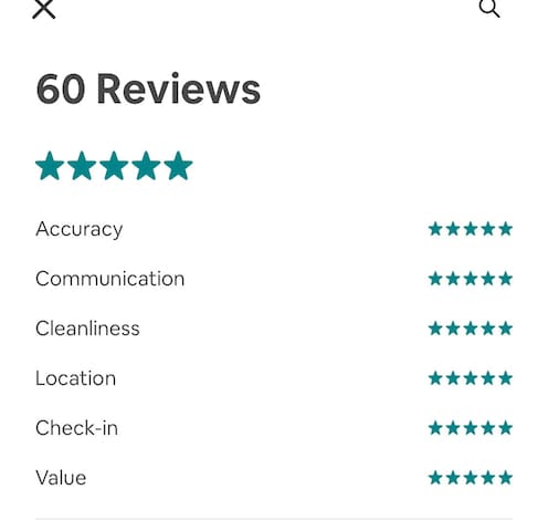 60 Five stars review and more than 250+ reviews SuperHost