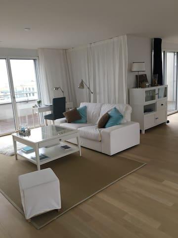 Attika-Wohnung mit 180 Grad See- und Bergsicht - Romanshorn - Apartament