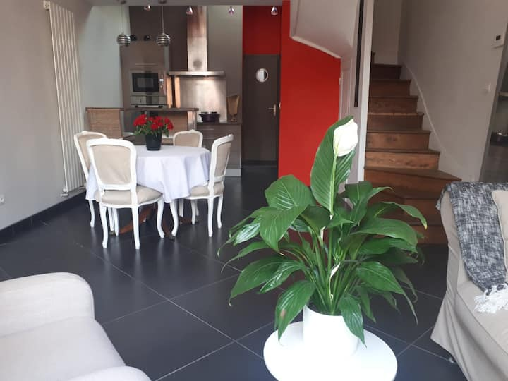 Chambre cosy avec salle de bains privative St-Leu