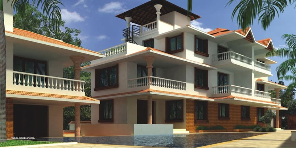 CANDY FLOSS GREEN VALLEY 3 BEDROOM VILLA - North Goa - House