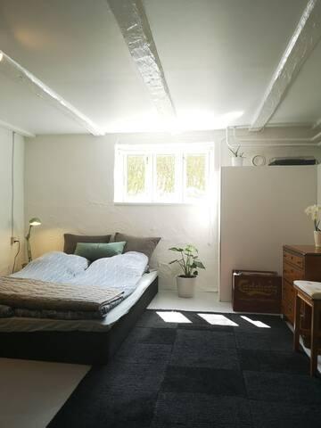 Hyggeligt værelse med tekøkken og egen indgang