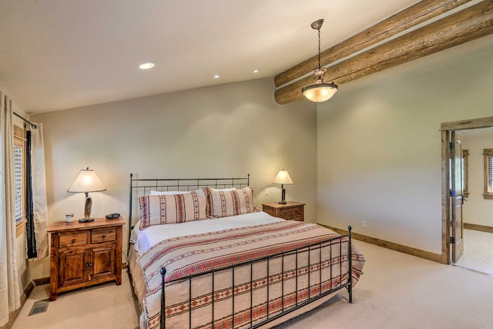 Master Bedroom offers king bed on the third floor