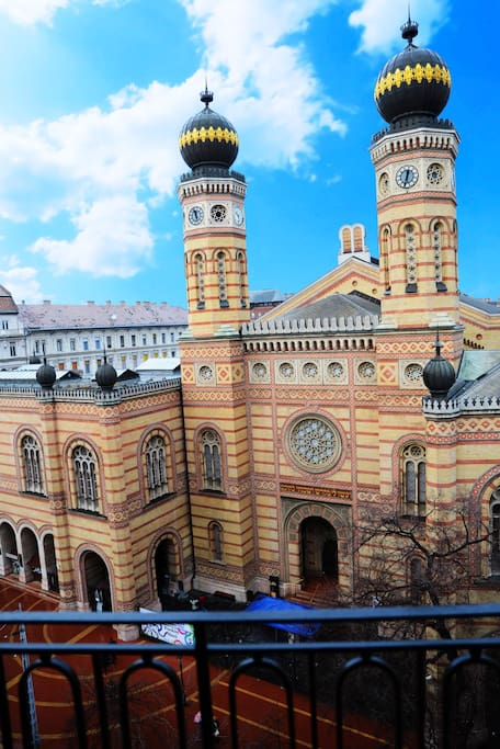 the Synagogue from the balcony