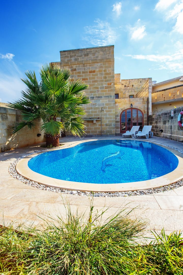 Veduta - Farmhouse with Private Pool in Gozo