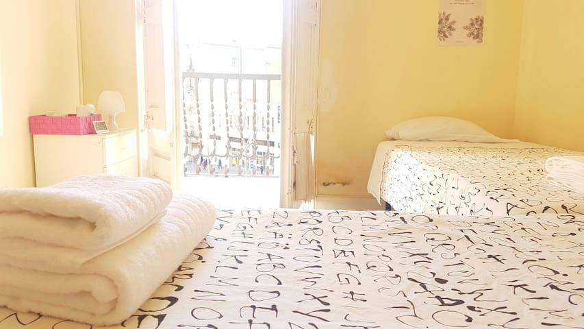 Room for 2 with 2 single beds. - Barcelona - Apartment