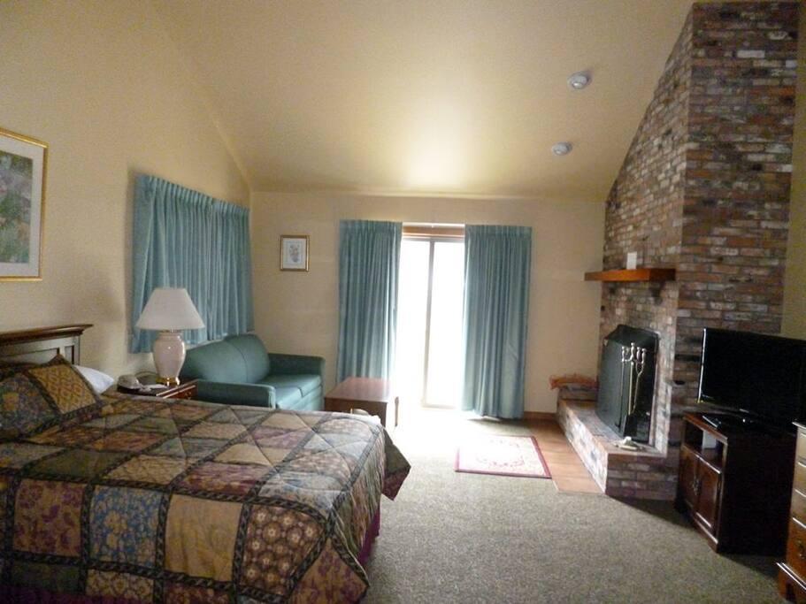 1st Floor Bedroom + Fireplace