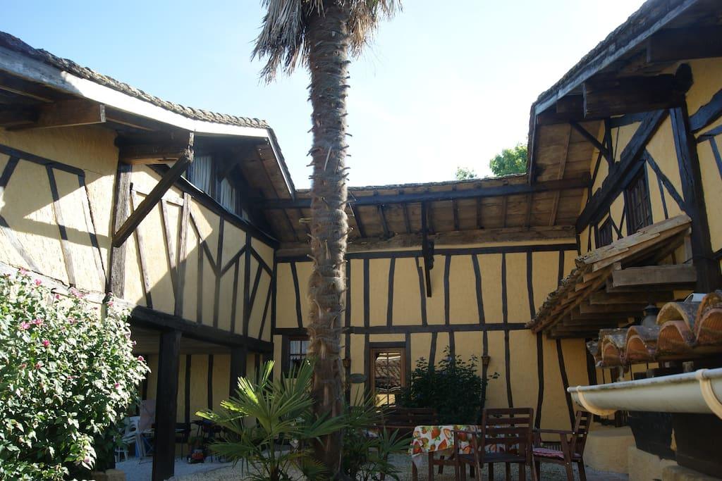The gite courtyard