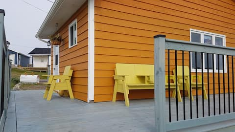 Orange House Next Door To The Fogo Island Inn!