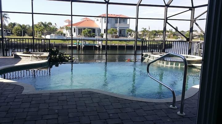 Fun House 5 bedroom waterfront home - pool & dock