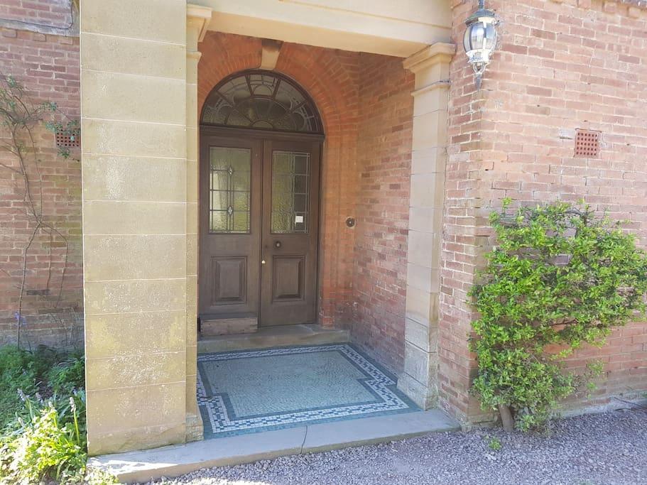 Elegant front entrance