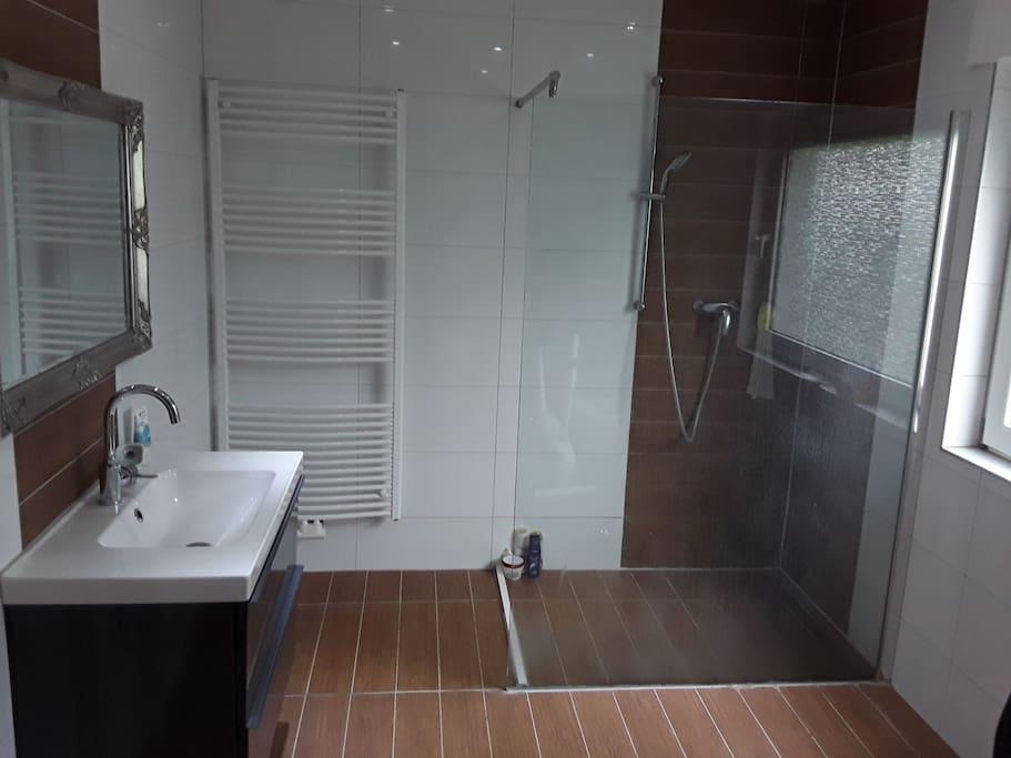 Großbadezimmer /Erdgeschoss 2016 modernisiert