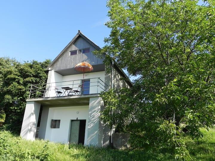 Charming house on winehill at Balaton w great view